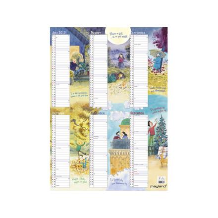 Vægkalender Familiens årskalender m/illu. 50x70cm 19 0662 80