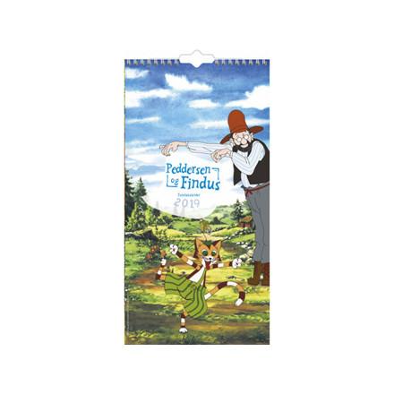 Familiekalender Peddersen & Findus 22x43cm 19 0663 90