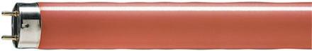 Lysrør tl-d 18w farvekode 150 rød