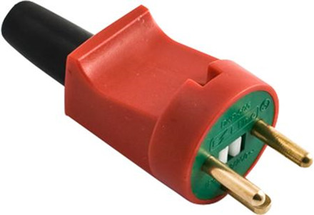 Stikprop lige rød/grøn 2p-m/jor