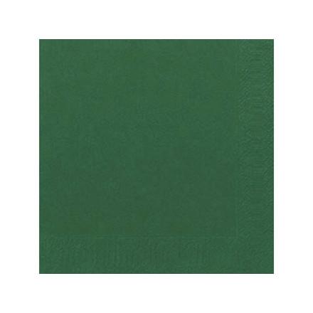 Servietter 2-lags Duni mørkegrøn 40cm 2000stk/kar
