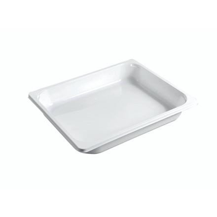 Plastbakke 1/2GN CPET hvid 2325-1a højde 49mm 120stk/kar
