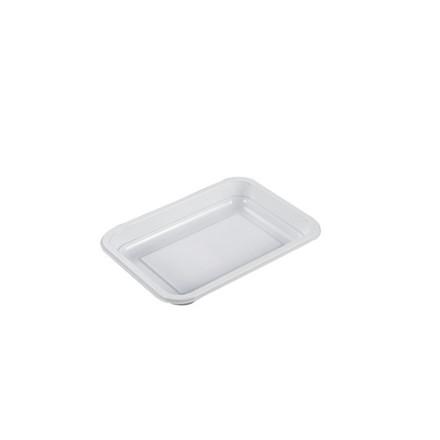 Plastbakke P 2187-1Z hvid PP til microovn 840stk/kar 425ml