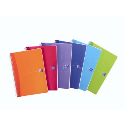5 stk Notesbog Oxford A4 Office My Colours 90g lin 90blade