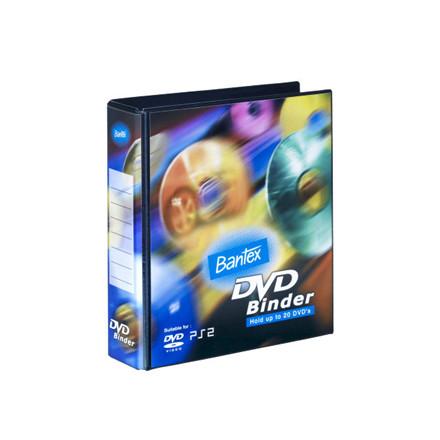 10 stk Ringordner DVD 2DR 40 mm m/20 lommer PP sort
