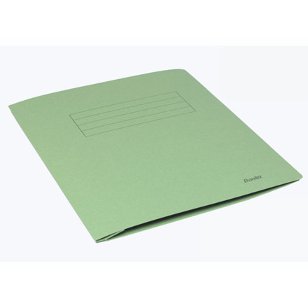 100 stk Arbejdsmappe Bantex grøn 318x240mm m/skrivefelt