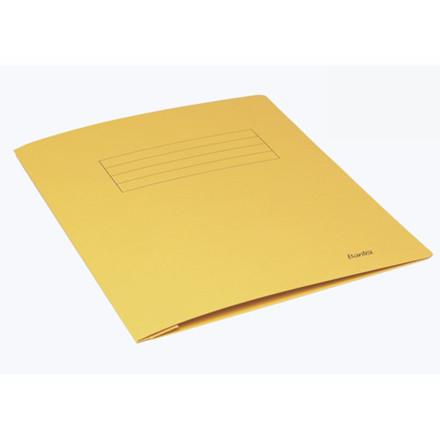 100 stk Arbejdsmappe Bantex gul 318x240mm m/skrivefelt