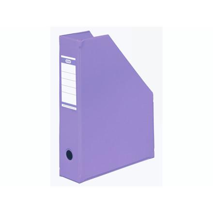 5 stk Tidsskriftskassette ELBA A4 maxi lilla ryg:6,5cm