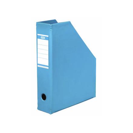 5 stk Tidsskriftskassette ELBA A4 maxi lys blå ryg:6,5cm