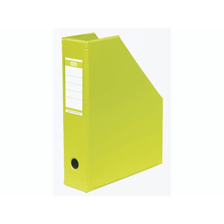 5 stk Tidsskriftskassette ELBA A4 maxi lime ryg:6,5cm