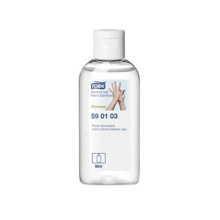Hånddesinfektion Tork Alcogel 0,1L lommeflaske 24stk/pak