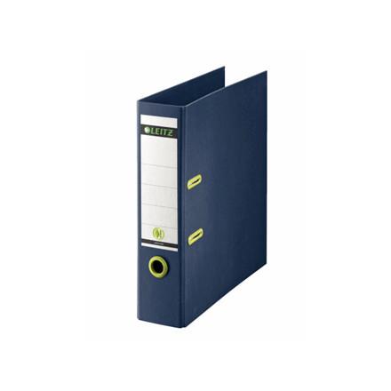 10 stk Brevordner Leitz recycle 80mm pap blå 180gr mekanisme