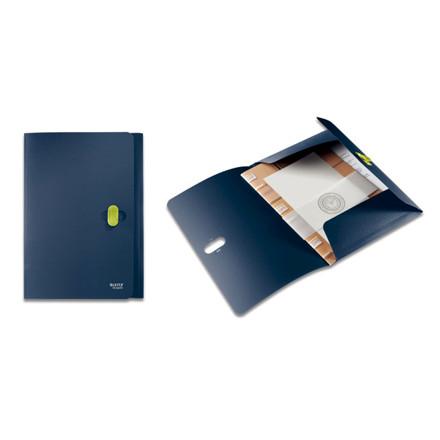 10 stk Plastmappe Letiz mørk blå m/3 klapper & elastik re:cy