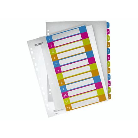 10 sæt Register printbar Leitz PP A4+ 1-12 WOW farver