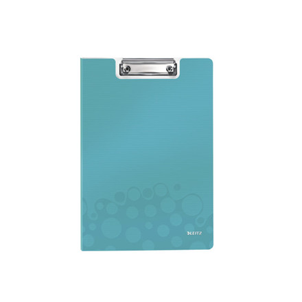 10 stk Clipboard Leitz WOW m/forside A4 isblå