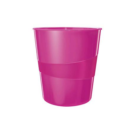 6 stk Papirkurv Leitz Plus 15L WOW pink