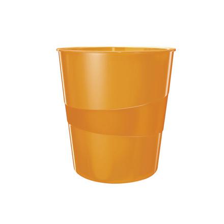 6 stk Papirkurv Leitz Plus 15L WOW orange