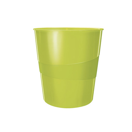 6 stk Papirkurv Leitz Plus 15L WOW grøn