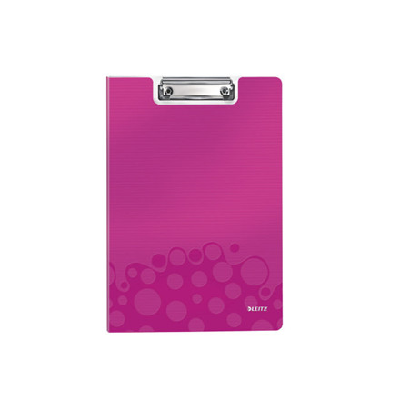 10 stk Clipboard Leitz WOW m/forside A4 pink