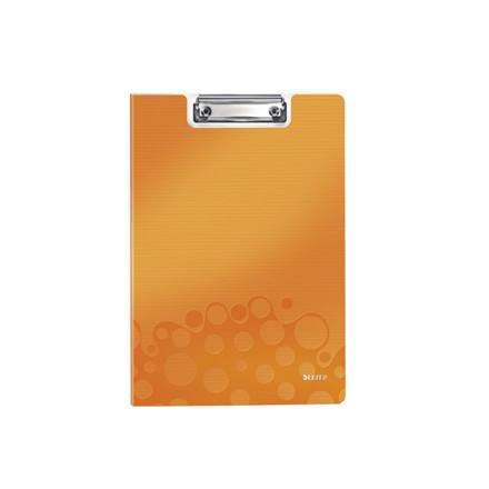 10 stk Clipboard Leitz WOW m/forside A4 orange