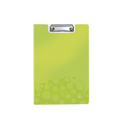 10 stk Clipboard Leitz WOW m/forside A4 grøn