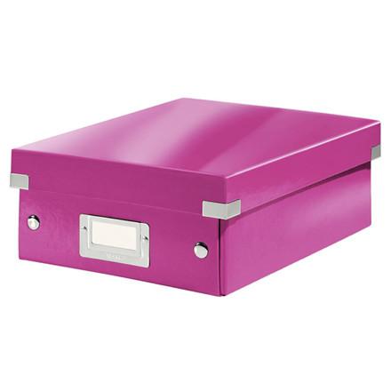 Fiberpapkartotek Click&Store WOW pink small