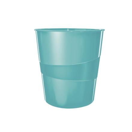 6 stk Papirkurv Leitz Plus 15L WOW isblå