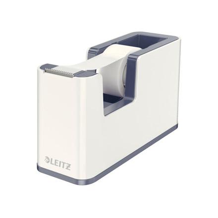 Tapedispenser Leitz WOW hvid incl 1 rulle tape