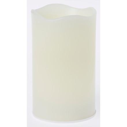 Bloklys LED genopladelig 75x125mm hvid 4 lys