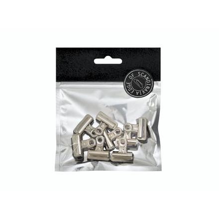 Papirklemme Bulldog EDGE 8x25mm sølv 8stk/pak