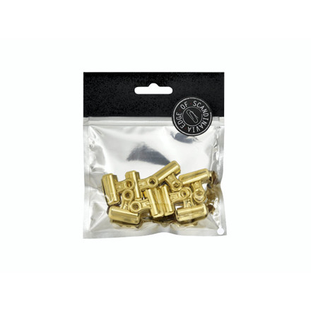 Papirklemme Bulldog EDGE 8x25mm guld 8stk/pak