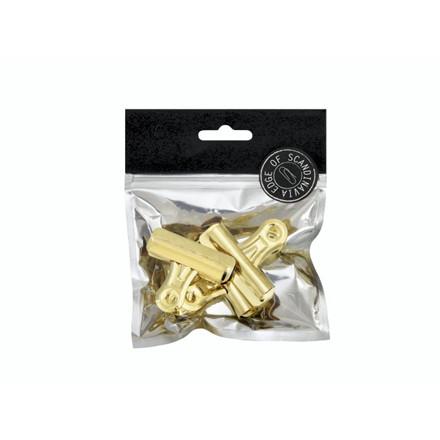 Papirklemme Bulldog EDGE 3x57mm guld 3stk/pak