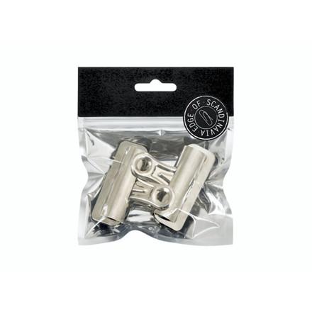 Papirklemme Bulldog EDGE 2x50mm magnet sølv 4stk/pak