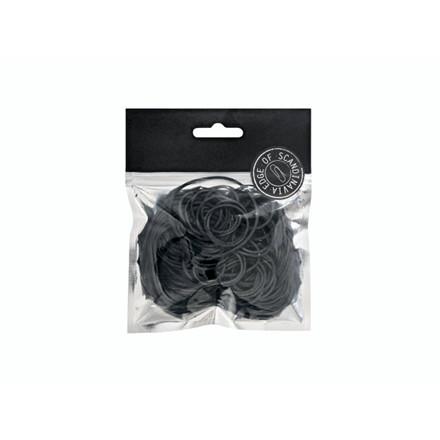 Gummibånd EDGE sort ass. størrelser 50g/pak