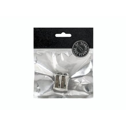 Blyantspidser EDGE dobbelt sølv