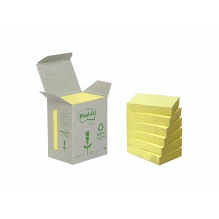 Post-it notes Miljø 38x51mm gul 6blk/pak