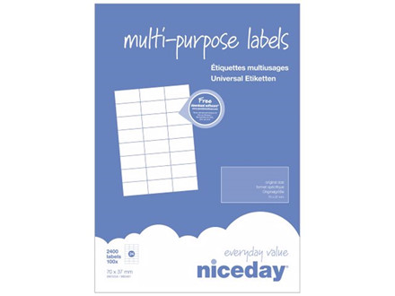 2.400 STK MULTILABEL NICEDAY A4 3951234