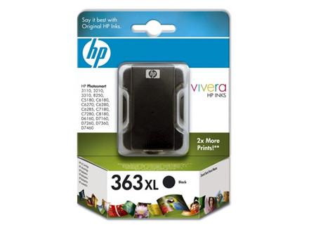 Blækpatron HP C8719EE sort HC No. 363 800 sider v/5%