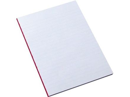 5 stk Standardblok u/huller lin. 60g hvid A5