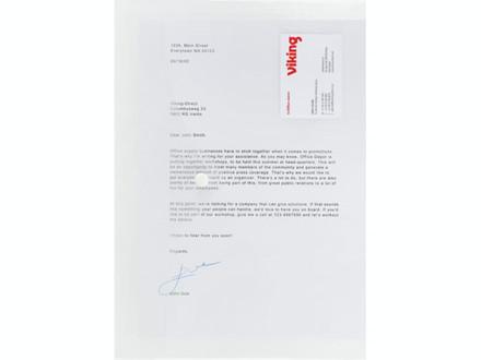 5 STK PLASTMAPPE PP OFFICE DEPOT KLAR A4 - C1246582