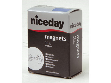 10 STK MAGNETER NICEDAY BLÅ Ø20MM 10STK/