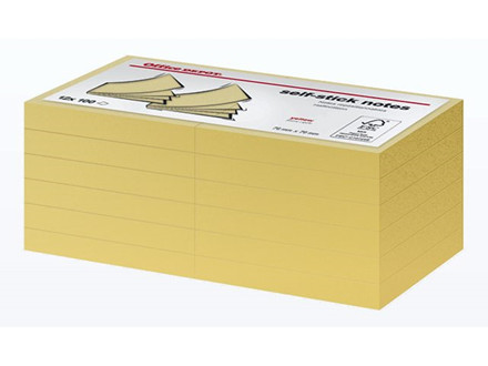 12 BLOK NOTES OFFICE DEPOT GULE 76X76MM