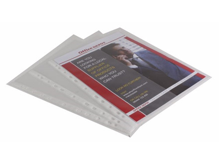 25 STK PLASTLOMME OFFICE DEPOT A4 0,11MM