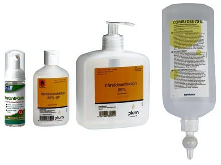 75 ml 15 stk Spritgel 85 % desinficering 75ml pumpeflaske