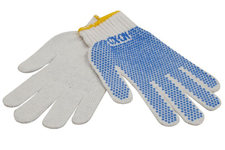 Handsker med PVC-dotter