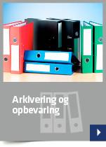 Arkivering og opbevaring