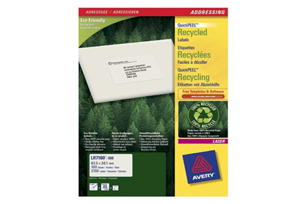 Avery laserlabels Recycled