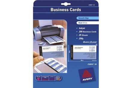 Avery inkjet/laser-visitkort