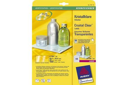 Gennemsigtige laseretiketter Crystal Cle