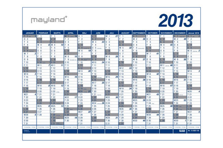 Væg- og kartonkalender